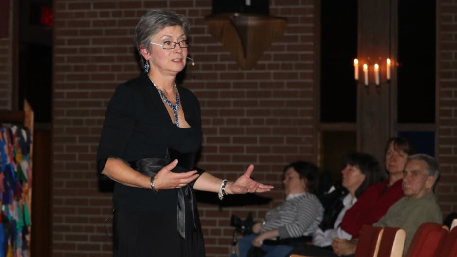 """""""If it's not supernatural or interventionist, if it's not a divine being, if it isn't all knowing and judging and all of those things then why name it God?,"""" says Gretta Vosper, a Reverend of West Hill United Church."""