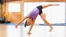 Chinese girl practicing gymnastics