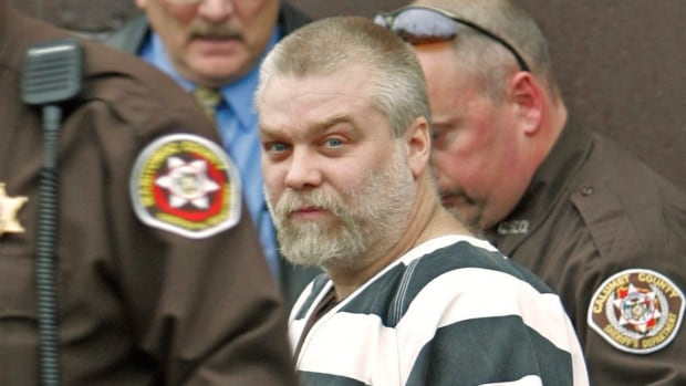 The true crime series Making a Murderer tells the story of Steven Avery, a wrongly-convicted Wisconsin man who spent 18 years in prison only to be charged with another serious crime after his release.  Here Avery is seen being escorted from the Manitowoc County Courthouse on Tuesday, Nov. 15, 2005.