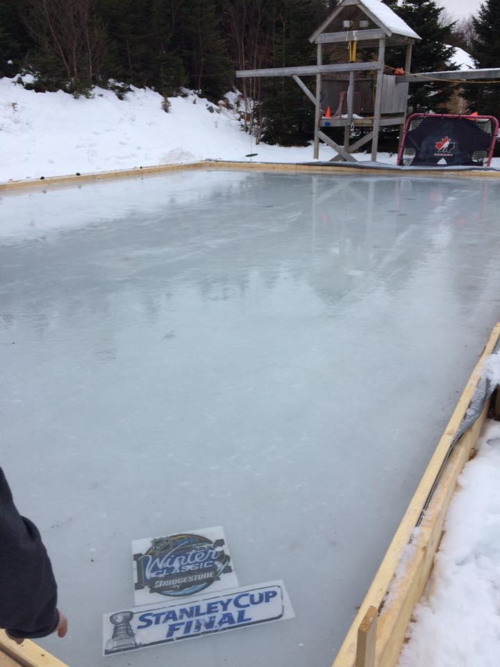 Homemade Backyard Ice Rink Resurfacer