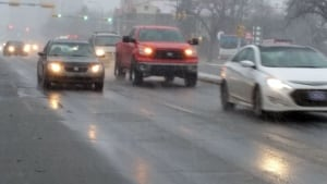Icy roads in Regina