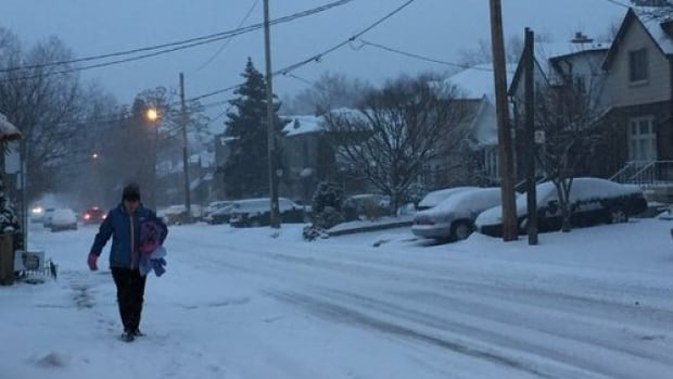 This morning's 10-centimetre snowfall wasn't enough for local school boards to declare a snow day. When students complained on Twitter, the school boards snapped back.