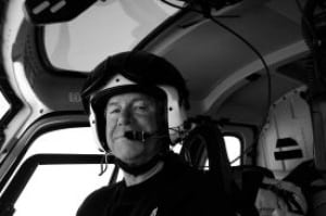 Helicopter pilot David Wood