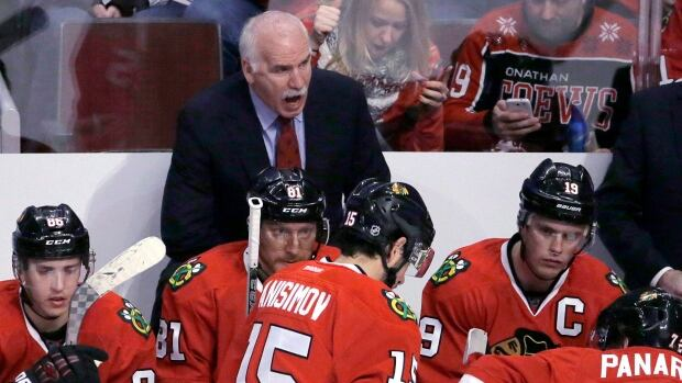 Chicago Blackhawks head coach Joel Quenneville has been with the team for eight seasons and guided it to three Stanley Cup victories since 2010.