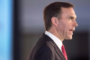 Finance Minister Bill Morneau speaks in Halifax