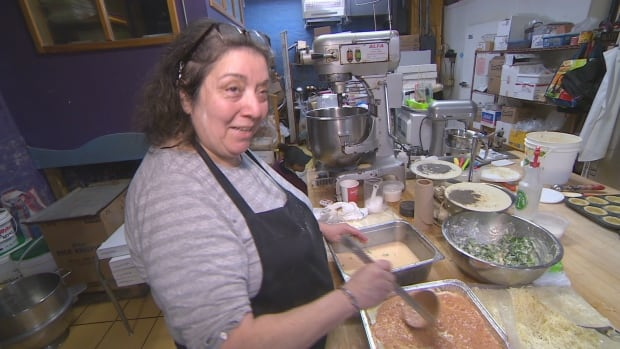 Lisa Guluzian, the owner of Toronto's World Class Bakers, is giving away tickets for the 1.5 billion US Powerball lottery to customers who spend at least $20. The draw takes place Wednesday.