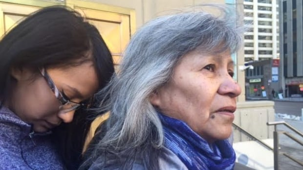 Linda Oakes and eight other members of her family travelled from Saskatchewan to listen to arguments in her niece's murder appeal
