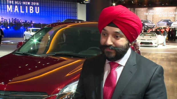 Navdeep Bains, the economic development minister says the federal government wants to make a 'one stop shop' for automakers.