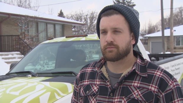 Garret Perry, who's been driving a plow for three years, approves of Eden, an on-demand snow removal app.