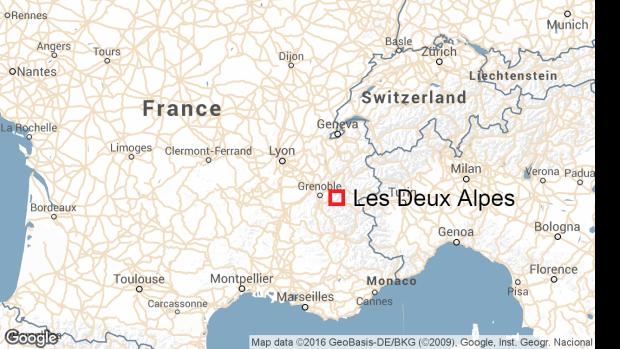 Les Deux Alpes map