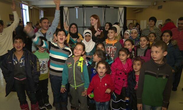 Syrian refugee children in Newfoundland
