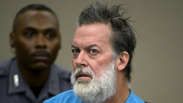 Robert Lewis Dear, 57, accused of shooting three people to death and wounding nine others at a Planned Parenthood clinic in Colorado last month, is shown Dec. 9.