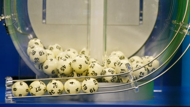 The winning Powerball numbers are shown after being drawn at the Florida Lottery studio in Tallahassee, Fla. on Wednesday night. The winning numbers were 8-27-34-4-19 and the Powerball number 10.