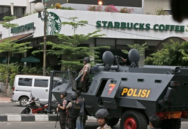 Jakarta INDONESIA-BLAST Jan 14 2016 target starbucks