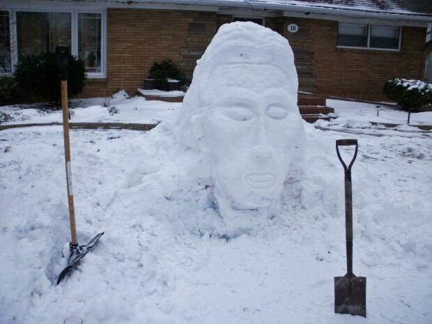 David Bowie Snow Sculpture 2