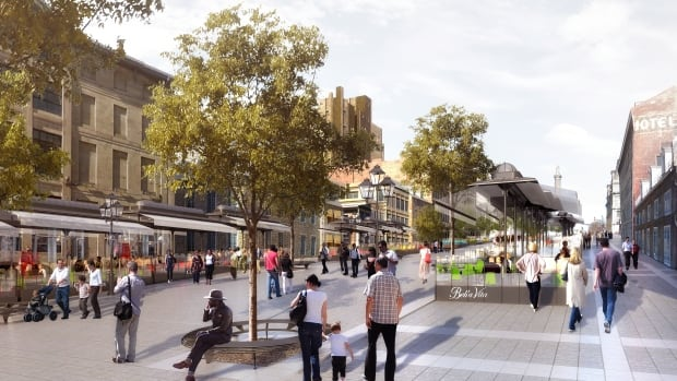 The upgrades to Place Jacques-Cartier are intended to make the square more pedestrian friendly.
