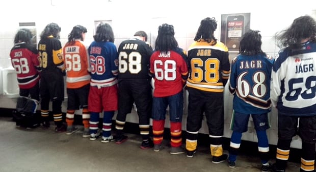 Travelling Jagrs in bathroom