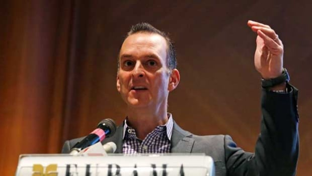 Travis Tygart, chief executive officer of the United States Anti-Doping Agency, speaks during Anti-Doping Intelligence and Investigation Seminar in Singapore Feb. 11, 2015.