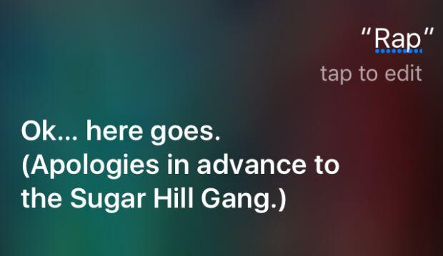 Siri raps