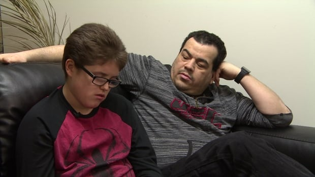 John Morrissette and his 13 year old son Jean-Micheal Morrissette