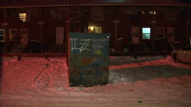 Dumpster near Flora Avenue where 13 year old boy was found