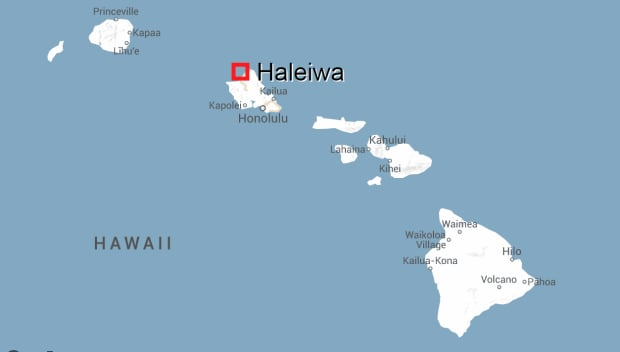 Haleiwa, Hawaii map