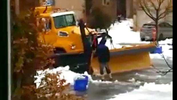 Durham police say a man climbed into the cab of this snowplow and punched the 65-year-old driver after the pair got into a confrontation on Timber Mill Ave., on Dec. 29.
