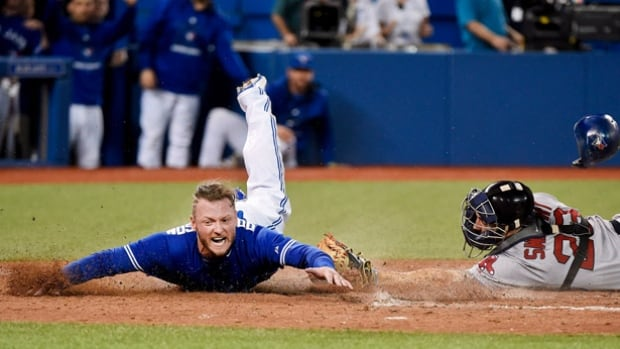 Toronto Blue Jays third baseman Josh Donaldson, left, was not on the list of players who avoided salary arbitration.