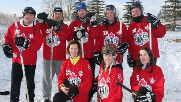 1 of the 53 teams in the 8th annual Kimmett Cup hockey tournament and fundraiser.