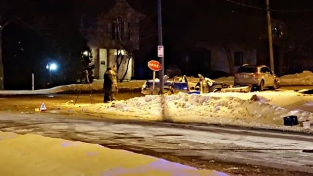 The collision happened at the intersection of St-Eustache and Parc streets.