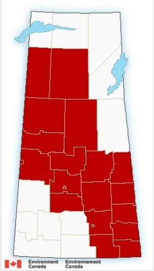 Saskatchewan - weather - cold warning