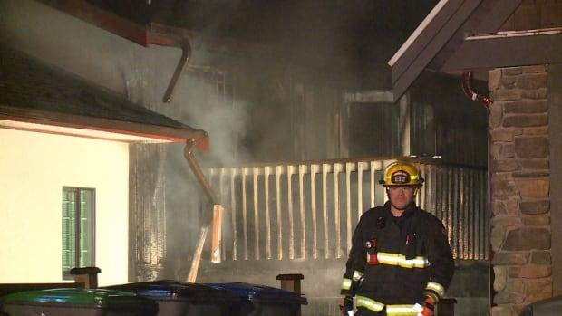 South Surrey porch fire