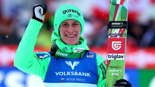 Peter Prevc of Slovenia continues to run away with the overall lead in World Cup ski jumping.
