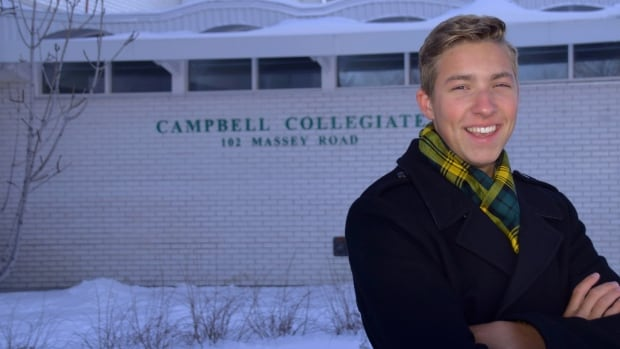 Jonah Toth, 17, is speaking out against the cancellation of the International Baccalaureate program at Regina public schools.