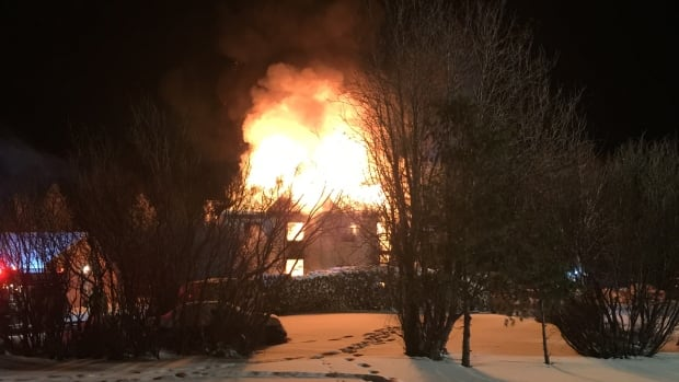 One of Glenboro's oldest buildings was up in flames on Saturday night.
