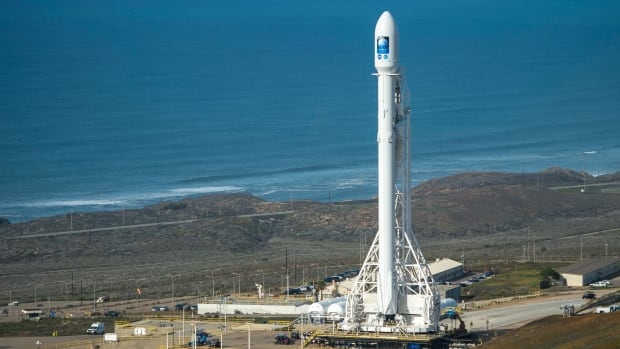 The SpaceX Falcon 9 rocket is seen at Vandenberg Air Force Base Space with the Jason-3 spacecraft onboard in January. The 23-storey rocket was carrying a communications satellite for Luxembourg-based SES SA.