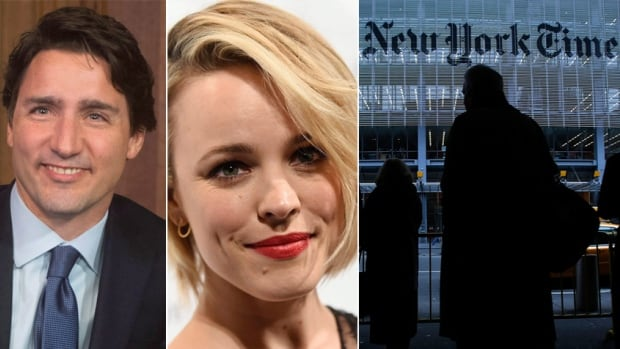 Prime Minister Justin Trudeau and Rachel McAdams are among the Canucks the New York Times lists in an article declaring that Canada is suddenly hip.