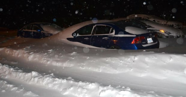 Wedding guests trapped by snow