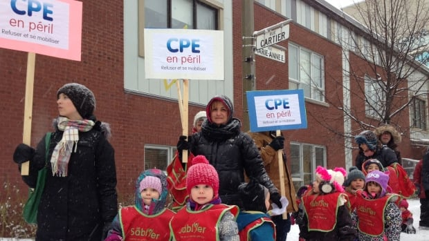 Quebec daycare workers are threatening closures over budget cuts.