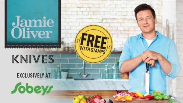 Customers can collect stamps from Sobeys to earn Jamie Oliver knives.