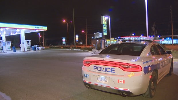 Peel Regional Police are investigating an armed robbery at a Husky gas station near Bovaird Drive West and McLaughlin Road early Monday morning.