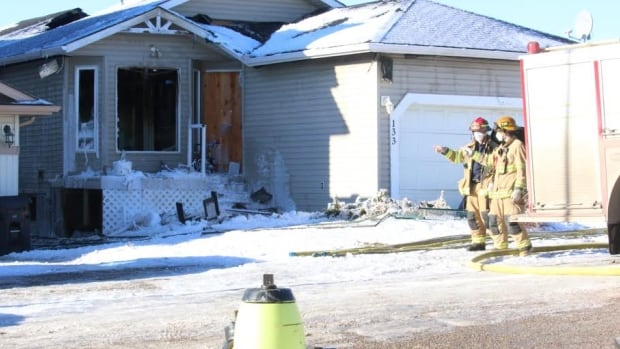 Investigators from the arson unit are on scene at a suspicious house fire in Arbour Lake.