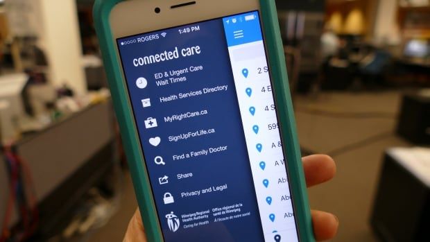 The Winnipeg Regional Health Authority's new iPhone app, Connected Care, lets patients check various emergency room wait times across Winnipeg.
