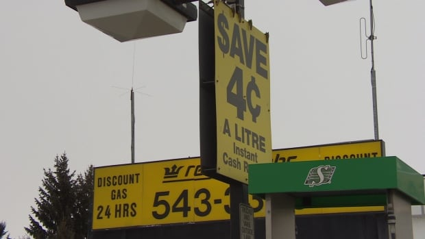 Regina Cabs offers a 4-cent discount per litre on its gas, bringing the price on Feb. 14,  2016, to 59.9 cents per litre.