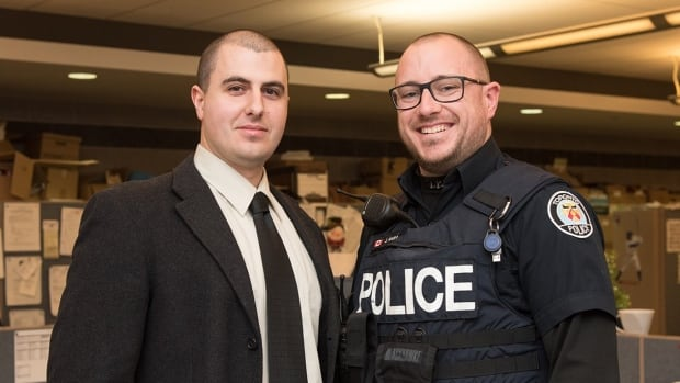 """Even though something may become routine to us it still has quite an impact on someone and can really make a difference,"" says Constable James Muirhead who along with Constable Matthew McMillen, successfully persuaded a woman named Ingrid not to take her own life last September."
