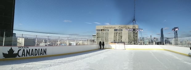 Molson Canadian rooftop rink