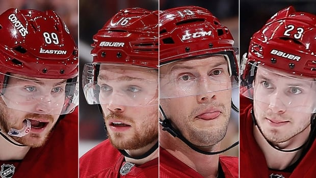 From left, the Coyotes' Mikkel Boedker, Max Domi, Shane Doan and Oliver Ekman-Larsson could all be considered replacements for John Scott at the Jan. 31 NHL all-star game in Nashville. The league has made it a mandate to include a player from each of its 30 teams at the event and with last week's trade of Scott to Montreal, Arizona GM Don Maloney expects another of his players to be chosen.