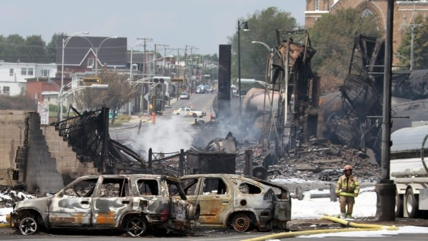 Part of the town was leveled, and 47 people died after a train carrying oil tankers derailed and exploded in Lac-Mégantic, Que. in 2013.