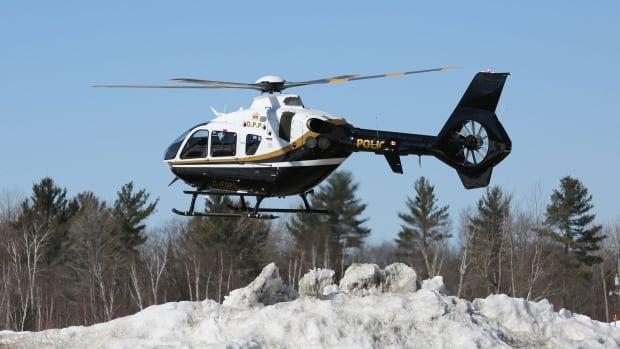 OPP helicopter, winter