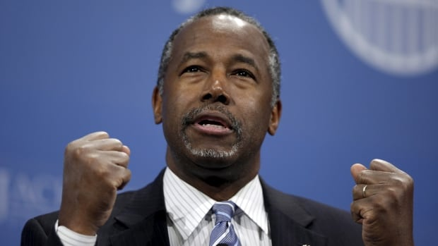 U.S. Republican presidential candidate Ben Carson cancelled his scheduled campaign events in Iowa and plans to meet with four volunteer staffers hurt in a car crash.